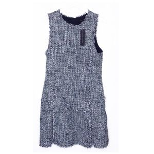 NWT Banana Republic Blue Tweed Fit-and-flare Dress